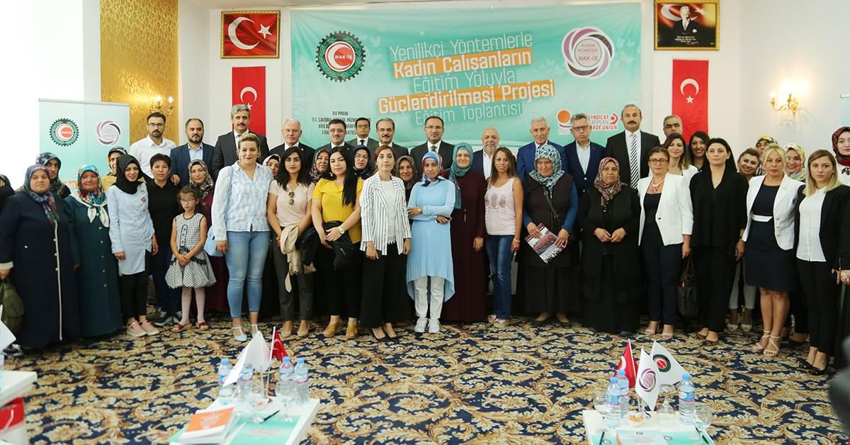 """Hak-İş'in """"Kadınları Güçlendirme  Projesi"""" Yozgat'ta Başladı"""