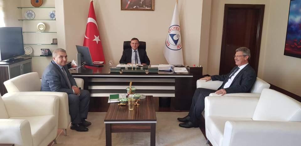 Başkan Akay'dan Erü  Rektörüne Tebrik Ziyareti