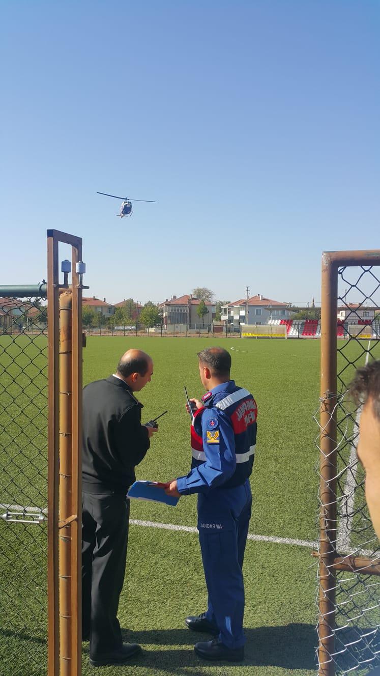 Boğazlıyan'da Jandarma'ya Helikopterli Destek
