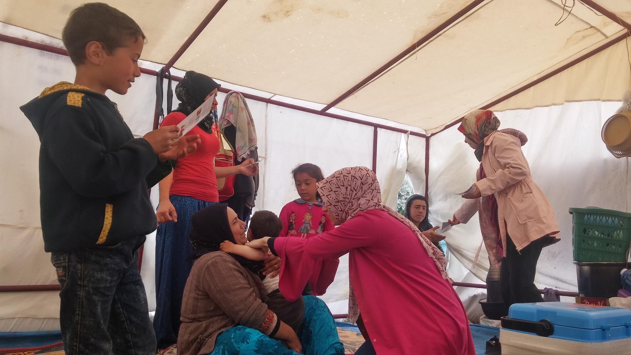 Mevsimlik işçilere mobil sağlık taraması